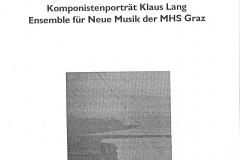 """Programmheft zu """"Die Überwinterung der Mollusken III"""" (2001)"""
